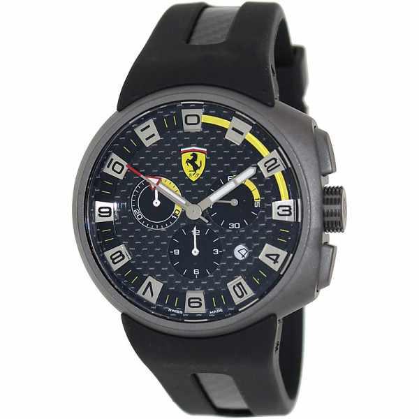 Ferrari, Podium, Chronograph, Quartzuhr, grau- schwarz-gelb_4996