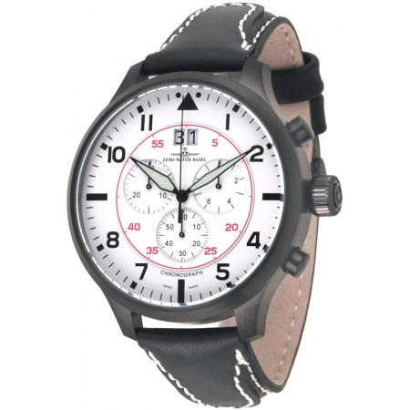 ZENO-WATCH BASEL, Pilot Super Oversized XXL Q Chrono N, schwarz/weiss_50