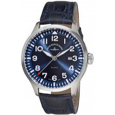 ZENO-WATCH BASEL, Pilot Navigator, Quartz Fliegeruhr, blau_5051