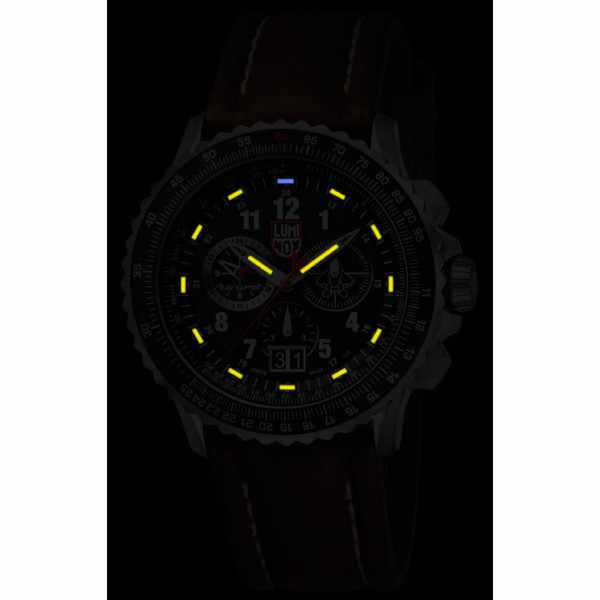 LUMINOX F-22 Raptor Chronograph, Titan, Lederband_5124