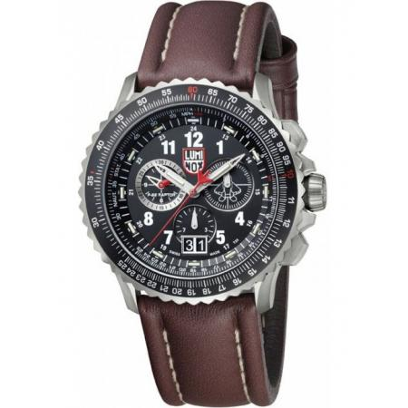LUMINOX F-22 Raptor Chronograph, Titan, Lederband_5125