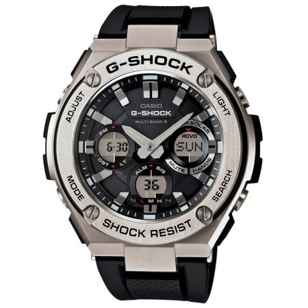 G-SHOCK, Digi-Analog, GST Steel De Luxe, LCD FunkSolaruhr, schwarz