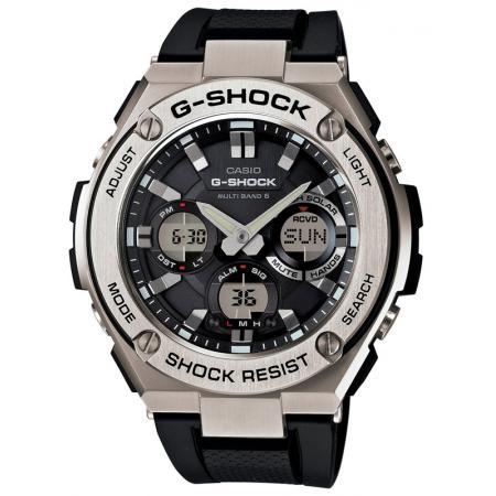 G-SHOCK, GST Steel, Digi-Analog, LCD FunkSolaruhr, SS schwarz