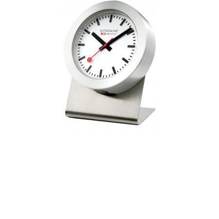 MONDAINE Magnet Clock Quartz, kleine SBB Bahnhofs Tischuhr_5219