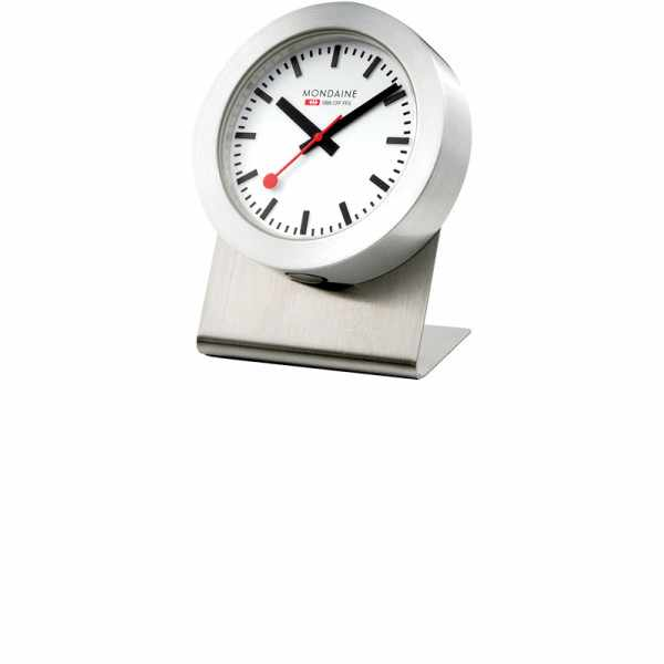 MONDAINE, Magnet Clock Quartz, kleine SBB Bahnhofs Tischuhr_5219