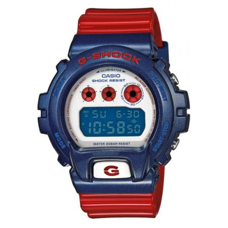 G-SHOCK Classic, LCD Digitaluhr, rot-blau