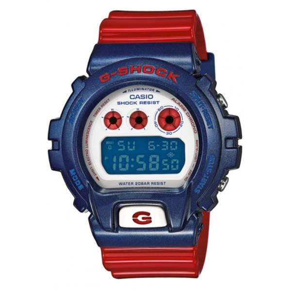 G-SHOCK Classic, LCD Digitaluhr, rot-blau_5297