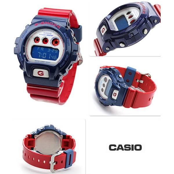 G-SHOCK Classic, LCD Digitaluhr, rot-blau_5298