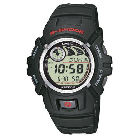 G-SHOCK, Life-Force, GSG Classic medium, LCD Digitaluhr, schwarz