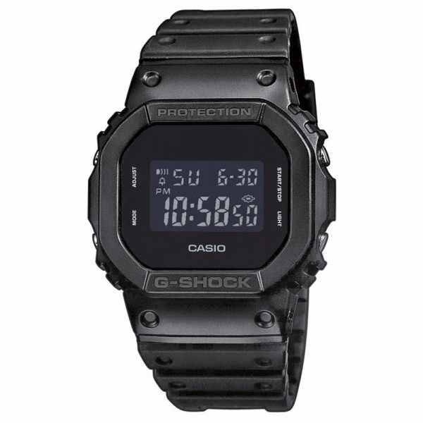 G-SHOCK Retro Blackout, LCD Digitaluhr, schwarz_5305