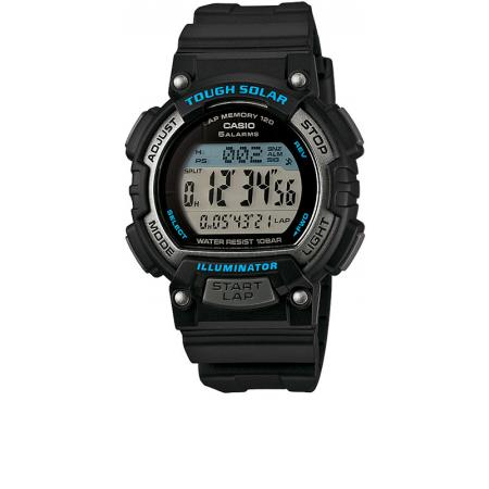 CASIO, Solar LCD Illuminator Sportuhr klein, schwarz-blau