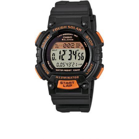 CASIO Solar LCD Illuminator Sportuhr klein, schwarz-orange_5350