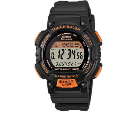CASIO, Sportuhr LCD, Illuminator, Tough Solar klein, schwarz-orange_5350