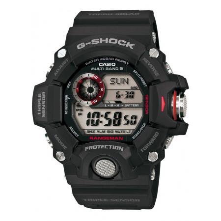 G-SHOCK, Rangeman, Solar Funkuhr, Kompass-Alti-Baro-Thermometer