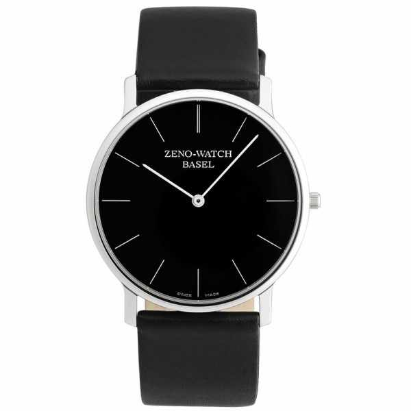 ZENO-WATCH BASEL, Bauhaus XL, Quartzuhr schwarz_546