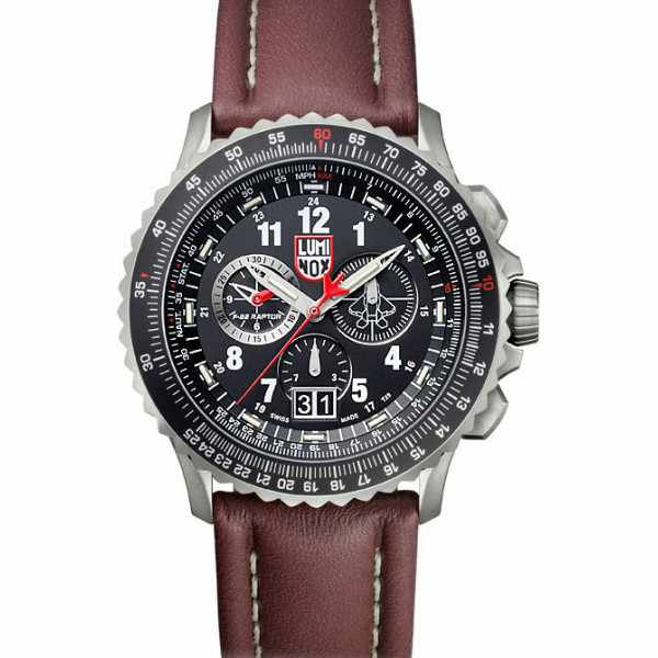 LUMINOX F-22 Raptor Chronograph, Titan, Lederband_5487