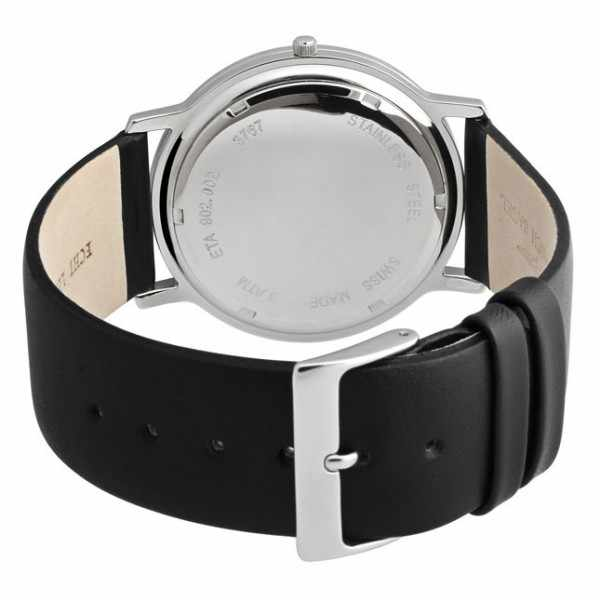 ZENO-WATCH BASEL, Bauhaus XL, Quartzuhr schwarz_552