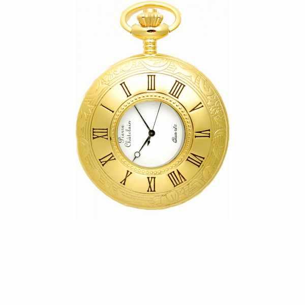 Klassik Taschenuhr Quartz, Demisavonette gold klein_5604