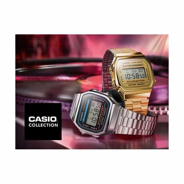 CASIO, Retro LCD, Illuminator, Digitaluhr, gold_5609