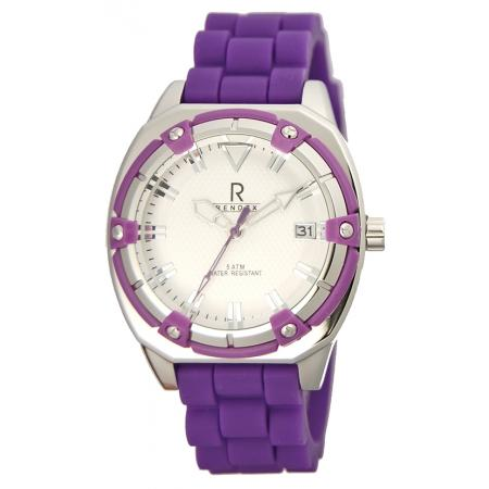 RENDEX, Lady Fashion Sport, Quartz, Edelstahl, lila