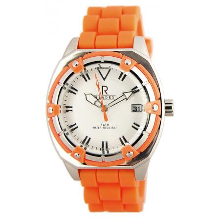 RENDEX, Lady Fashion Sport, Quartz, Edelstahl, orange
