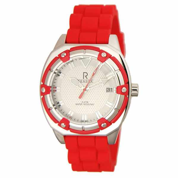 RENDEX, Lady Fashion Sport, Quartz, Edelstahl, rot_5710