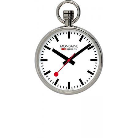 Bahnhofsuhr MONDAINE, Taschenuhr, SBB Pocket Quartz, Lépine