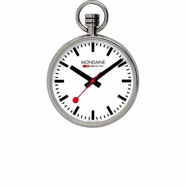 Bahnhofsuhr MONDAINE, Taschenuhr, SBB Pocket Quartz, Lépine_5715