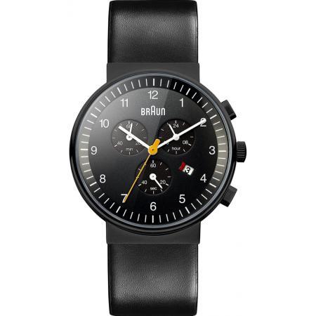 BRAUN Bauhaus Chronograph, Quartzuhr, schwarz_5737