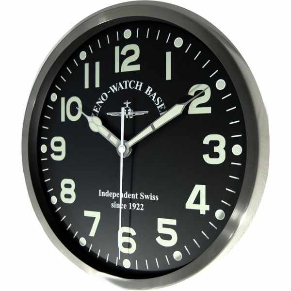 ZENO-WATCH BASEL Pilot Clock, XL Flieger Wanduhr, Sweep Silent Quartz_5749