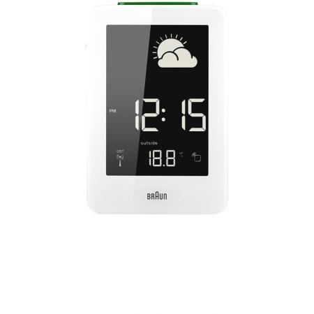 BRAUN, Wetterstation, Funkwecker mit Thermometer, weiss