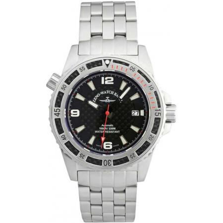 ZENO-WATCH BASEL, Professional Diver XL, Automatik, Edelstahl red