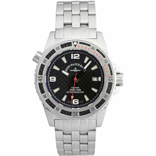 ZENO-WATCH BASEL, Professional Diver XL, Automatik, Edelstahl red_5798