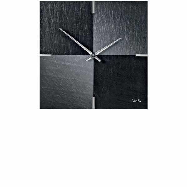 VAERST, Schiefer, Funkwanduhr, Airbrush Design_5827