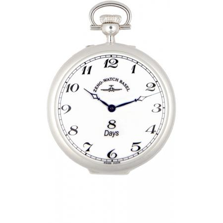 Klassik, 8 Tage Taschenuhr, Sterling Silber Zahlen