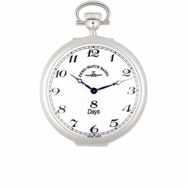 Klassik 8 Tage Taschenuhr, Sterling Silber Zahlen_5935