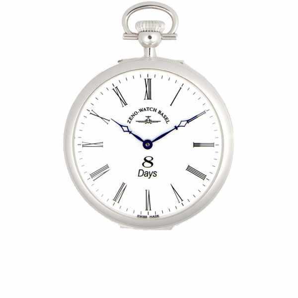 Klassik, 8 Tage Taschenuhr, Sterling Silber römisch_5936