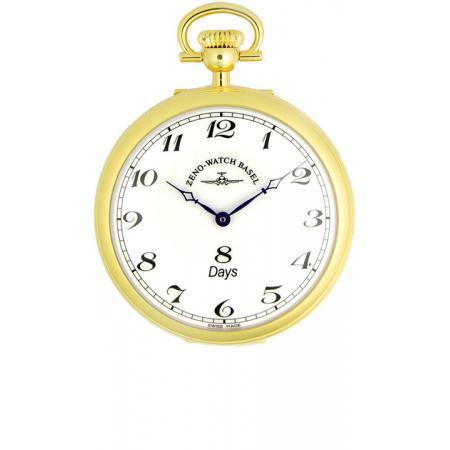 Klassik, 8 Tage Taschenuhr, Sterling Silber vergoldet römisch