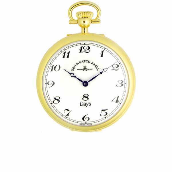Klassik, 8 Tage Taschenuhr, Sterling Silber vergoldet römisch_5937