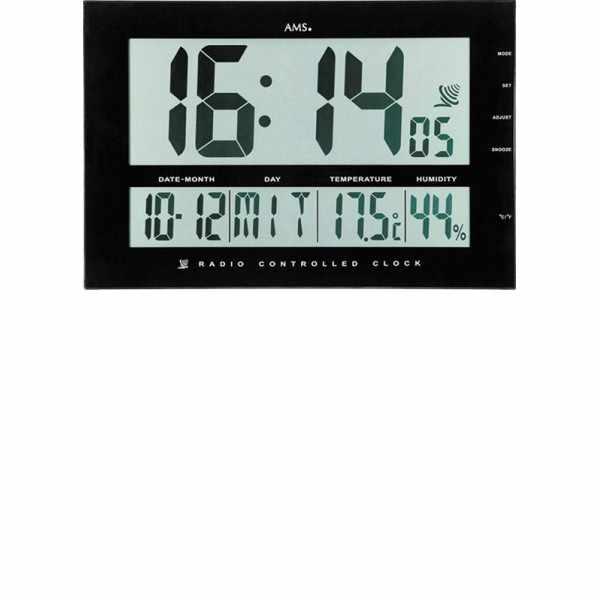 AMS Digital XXL LCD Funk Tisch-Wanduhr schwarz_5947