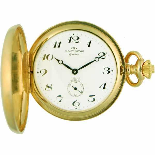 Klassik Taschenuhr Handaufzug, gold Numbers_5965