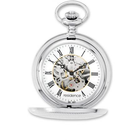 Klassik Taschenuhr Handaufzug, Residence Skelett_5973