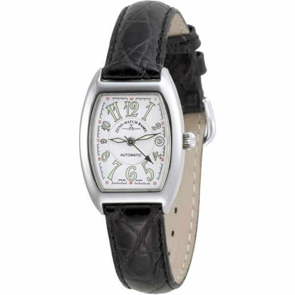 ZENO-WATCH BASEL, Tonneau Lady, Automatik Uhr, Art-Déco, weiss_5979
