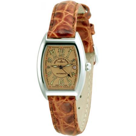 ZENO-WATCH BASEL, Tonneau Lady, Automatik Uhr, Art-Déco, kupfer_5980