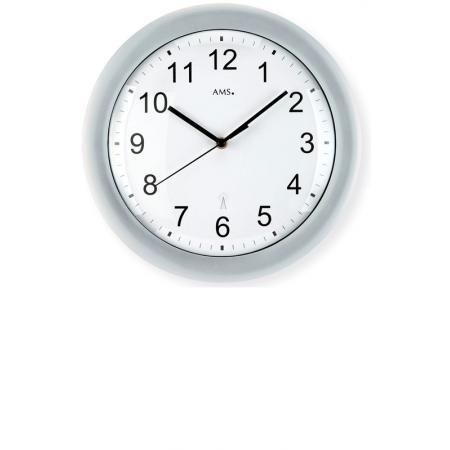 AMS, Classic Time, Funkwanduhr, grau_6008