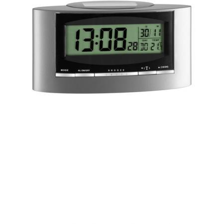 TFA Thermo-Date LCD Solar Funkwecker Temperaturanzeige