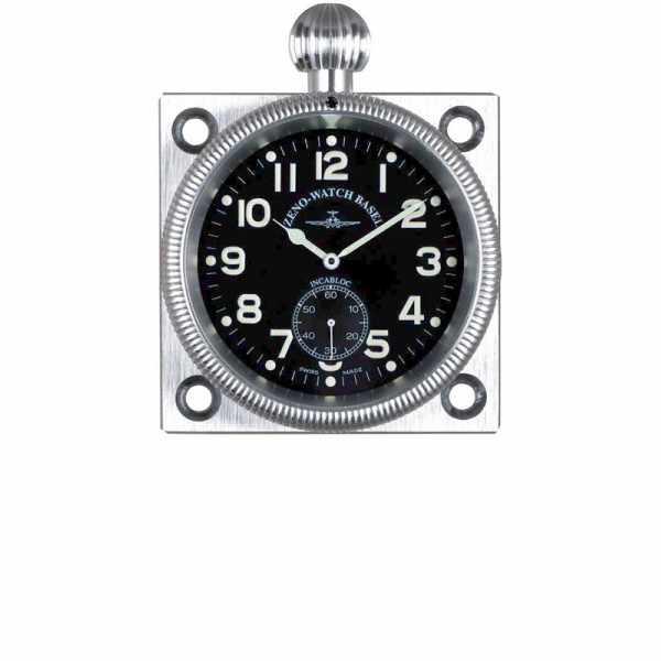 ZENO-WATCH BASEL, Navigationsborduhr, Handaufzug, Alu Dashboarduhr_6024