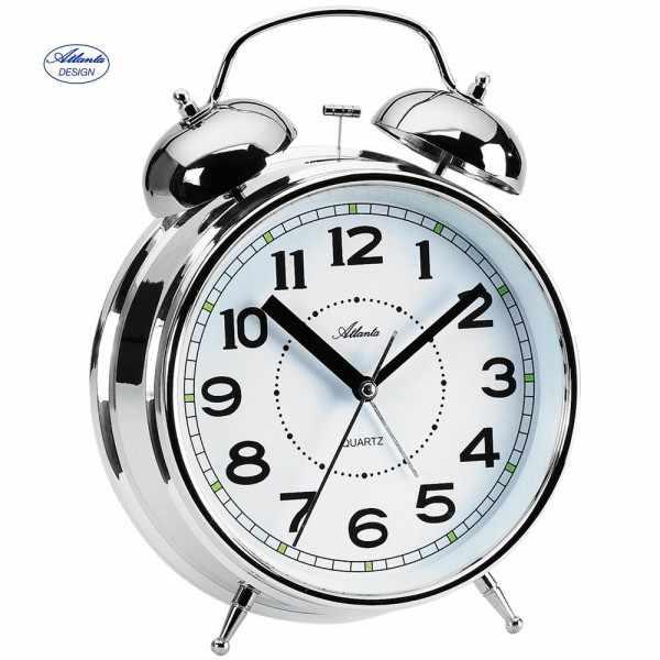 ATLANTA Glockenwecker Silent Q, lauter Alarm, Licht, XXL_6038