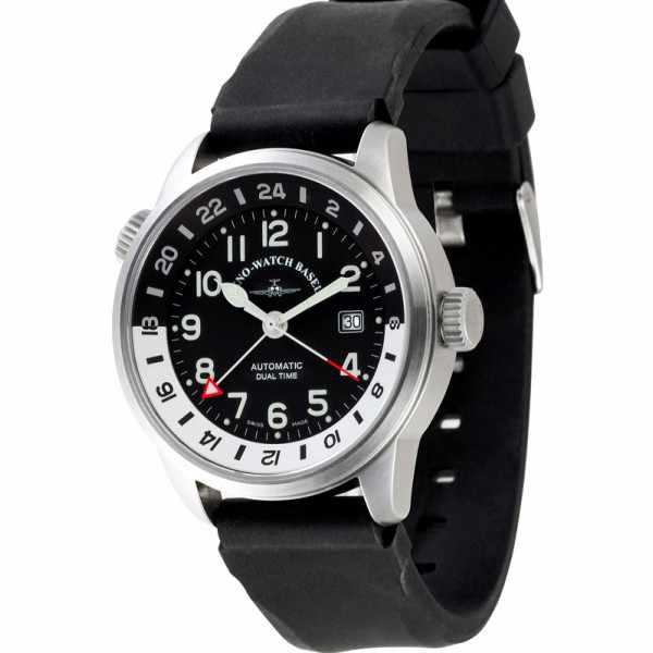 ZENO-WATCH BASEL, Fellow GMT, XL Automatik, Fliegeruhr Dualtime_6054