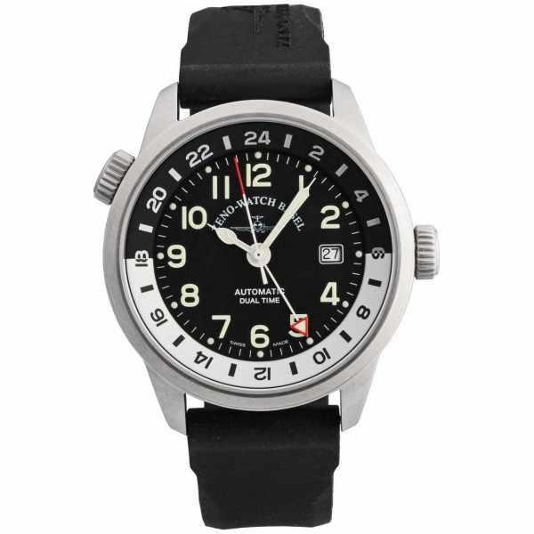 ZENO-WATCH BASEL, Fellow GMT, XL Automatik, Fliegeruhr Dualtime_6055